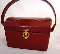 Vintage Red Leather CONCORD Box Bag/ 1950s by Curationeur on Etsy https://www.etsy.com/listing/112331785/vintage-red-leather-concord-box-bag
