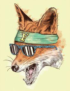 ANIMAL GANGS: The Lower East Side Bandana Foxes #illustration #fox