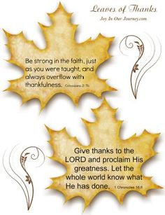 Leaves of Thanks free printables - May the God of hope fill you with all JOY and peace Thanksgiving Verses, Thanksgiving Crafts For Kids, Thanksgiving Activities, Fall Crafts, Thanksgiving 2020, Christian Bulletin Boards, Thankful Tree, Bible Study Tools, Printable Bible Verses