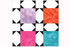 Early Morning Star: Easy Patchwork Quilt Block with Built-in Sashing