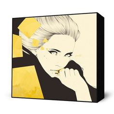 Gold Mini Art Block now featured on Fab. Mesmerizing, Mind-Blowing Prints  Eyes On Walls is an art company that publishes an exclusive collection of edgy, inspiring, and hip art prints—often using popular urban culture as a springboard. Originally created by popular artists including Charlie Bowater, Alex Cherry, and HR-FM, each radical reproduction comes framed and ready to hang.