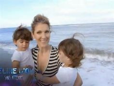 Celine with twin sons Nelson and Eddy