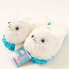 1000c088db1e0 Alpacasso Alpaca Plush Cleaning Slippers. Alpaca SlippersCute ...