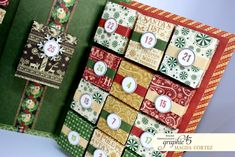 How to: Paper Advent Calendar by Magda Cortez featuring Winter Wonderland by Graphic 45!