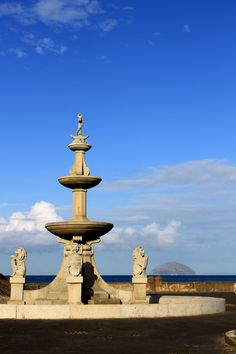 Sailors Memorial (with Ailsa Craig in background), Girvan, Scotland Fell here in my roller skates