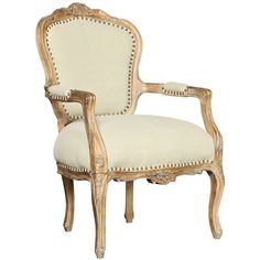 Mirabelle Provence Toile Accent Chair (1,060 CAD) ❤ liked on Polyvore featuring home, furniture, chairs, accent chairs, chair, seating, casa, french country chairs, nailhead accent chair and nailhead trim chair