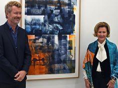 Queen Sonja visited the Galerie MøllerWitt in Aarhus