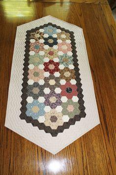 Hexagon Table Runner by Rhonda Byrd