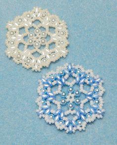 Snowflake #6 Beaded Ornament Pattern