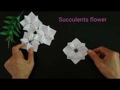 Origami four leaf(petal) flower 折纸幸运花 四叶花 - YouTube