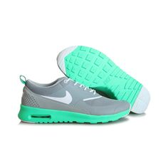 Nike Air Max THEA PRINT 599408-013 Damskie Szare Zielone buty-nike-sklep.pl
