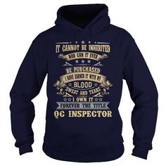 QC-INSPECTOR T Shirts, Hoodies Sweatshirts. Check price ==► http://store.customtshirts.xyz/go.php?u=https://www.sunfrog.com/LifeStyle/QC-INSPECTOR-91838905-Navy-Blue-Hoodie.html?41382