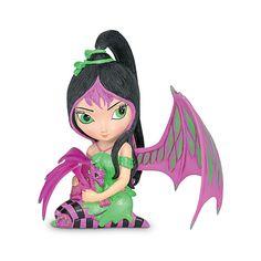 The Hamilton Collection Jasmine Becket-Griffith Fairy and Baby Dragon Figurine: Ivy Dragon Figurines, Fairy Figurines, Collectible Figurines, Baby Fairy, Love Fairy, Dracula, Jasmine, Fairy Clothes, Baby Dragon