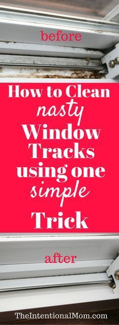Do you need to clean your nasty window tracks? They can get ugly fast, and no one really likes to clean them. Here's the one simple trick you need to know! via @www.pinterest.com/JenRoskamp Lauren B Montana