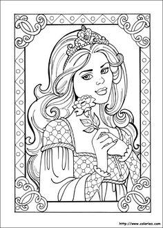 """Résultat de recherche d'images pour """"coloriage princesse"""""""