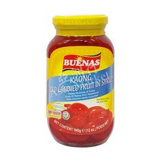 Buenas Kaong Red Candied Fruit in Syrup (Red) 340g