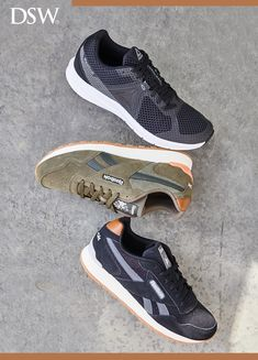 This season, shop retro Reebok sneakers at DSW. With bold details and a platform, these styles are a fresh take on the iconic sneaker. Tap the Pin now to start shopping. Men's Shoes, Nike Shoes, Shoe Boots, Shoes Sneakers, Basketball Shoes, Nike Free, Reebok, Casual Shoes, Running Shoes