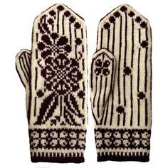 "Вязание. Варежки с жаккардом - ""Зимняя радуга""   ВКонтакте Knitted Mittens Pattern, Knit Mittens, Knitted Gloves, Knitting Socks, Knitting Charts, Knitting Patterns, Wrist Warmers, Fair Isle Knitting, Craft Patterns"