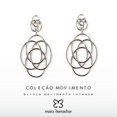 #DicadePresente: Sucesso da coleção movimento direto para sua mãe! #Marque #MairaBumachar  www.mairabumachar.com.br/brinco-movimento-intenso-rodio ou #whatsapp (11)99744-0079  #Mae #DiadasMaes #Mother #FreteGratis #SemanadasMaes #AmorEterno #Comemore #EuteAmo #MovimentoMB #MB #Vix #SP #VilaMadalena