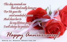 Anniversary Messages For Wife Messages, Greetings and Wishes - Messages, Wordings and Gift Ideas Anniversary Message To Wife, Happy Anniversary To My Husband, Happy Anniversary Messages, Anniversary Wishes For Friends, Wedding Anniversary Quotes, Anniversary Greetings, Romantic Anniversary, Anniversary Pictures, 1st Anniversary