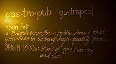 Gastropub dictionary
