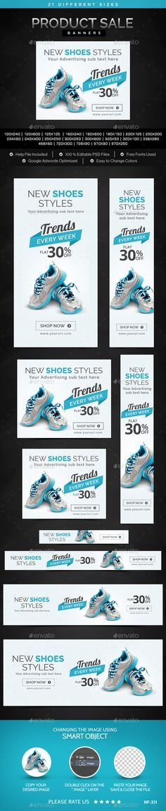 Buy Product Sale Banners by Hyov on GraphicRiver. Promote your Products and services related to any Product Sale with this great looking Banner Set. Web Design, Web Banner Design, Web Banners, Banner Design Inspiration, Web Inspiration, Template Web, Banner Template, Social Media Banner, Social Media Design