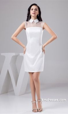 http://www.ikmdresses.com/White-Short-Organza-High-Neck-Rectangle-Bridesmaid-Dress-p21915