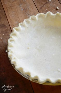 I may have found the best recipe yet for pie crust.  It is fairly simple to make, rolls out nicely, and makes more than enough dough for two 9-inch pie crusts. www.andersonandgrant.com  #pie #Marthastewart