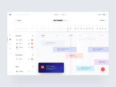 October Calendar, Calendar App, New Bus, User Interface, Ui Design, Bar Chart, Instagram, Den, Product Design