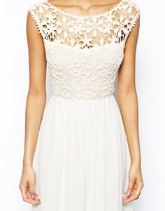 Image 3 ofClub L Crochet Maxi Dress