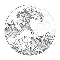 46 New Ideas For Tattoo Wave Hokusai The post 46 New Ideas For Tattoo Wave Hokusai appeared first on Best Tattoos. Wave Tattoo Design, Moon Tattoo Designs, Tattoo Wave, Stag Tattoo, Sketch Tattoo Design, Bee Tattoo, Wave Design, Art Sketches, Art Drawings