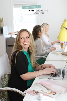 5 Tips to Starting a Business by Abby Larson  Read more - http://www.stylemepretty.com/living/2013/10/01/5-tips-to-starting-a-business-by-abby-larson/