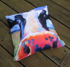 Cow Throw Pillow  Throw Pillows  Multiple by betsymclellanstudio