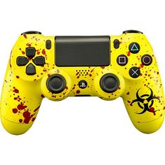 Evil Controllers - Biohazard Master Mod Wireless Controller for PlayStation 4 - Yellow - Larger Front