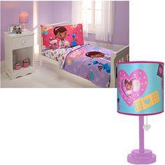 Disney Doc McStuffins 4 Piece Toddler Bedding Set W/Table Lamp Bundle    Debating
