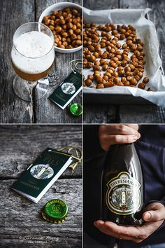Roasted chickpeas with smoked paprika and Theresianer Beer Premium Pils  #appetizer #snack #glutenfree #veggetarian #homemade #friendsmeeting #likeeat