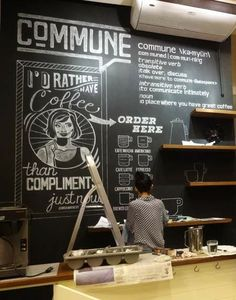 Commune Mural & Chalk Art - a touch of chalkboard could be nice