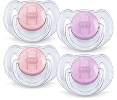Philips Avent Translucent Toddler Pacifiers 618 Months  4 Pack PinkPurple >>> More info could be found at the image url.Note:It is affiliate link to Amazon.