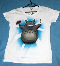 Hey, I found this really awesome Etsy listing at http://www.etsy.com/listing/128815417/totoro-shirt-unique-airbrush-art-womens