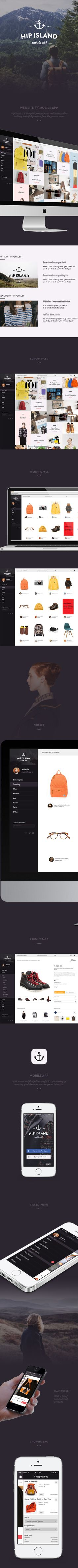 Hip Island by Eugene Maksymchuk, via Behance