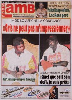 Sunu Lamb du 02 juillet 2012, quotidien spécialisé dans la lutte sénégalaise (prix 100F)
