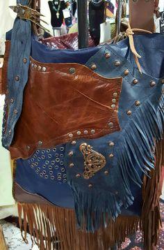 Handcrafted Leather Boho Large Messenger by WhiteBuffaloCreation