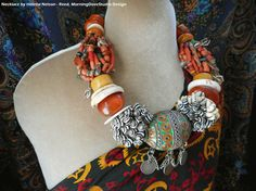 Berber Dowry style necklace old vintage por MorningDoveDesign