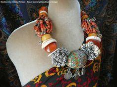 Berber Dowry style necklace old vintage por MorningDoveDesign