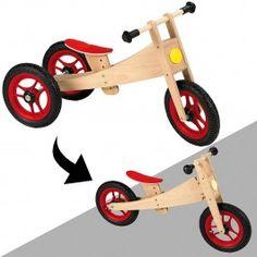 Geuther loopfiets 2 in 1. in een handomdraai van driewieler naar normale loopfiets, of andersom.