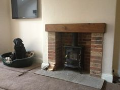 brick fireplaces wood burning stove - Google Search