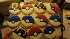 Pokéball Cookies #baking #cooking #food #recipes #cake #desserts #win #cookies #recipe #cakes #cupcakes
