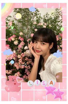 Black Pink Songs, Black Pink Kpop, Blackpink Lisa, Polaroid Decoration, Polaroid Template, Kpop Diy, Blackpink Poster, Lisa Blackpink Wallpaper, Kpop Posters