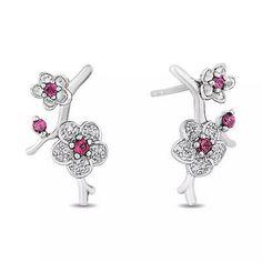 Enchanted Disney Fine Jewelry Garnet Diamond Mulan Earrings For Gifts | eBay