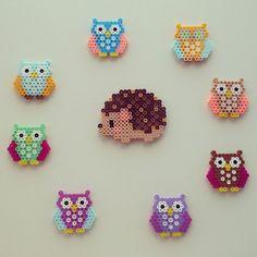 Owls perler beads by pixelbeadart